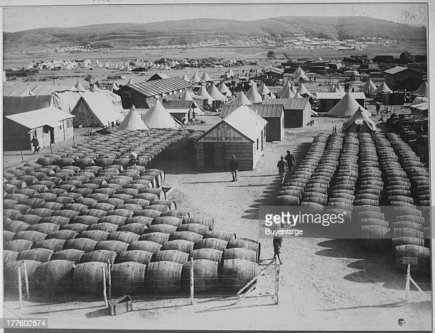 Supporting its Army with Wine The French store barrels on the island of Lemnos during the Campaign in the Dardanelles