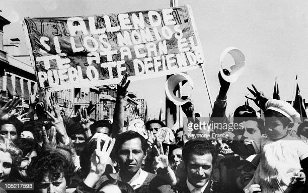 Supporting Salvador Allende In Chile In 1970