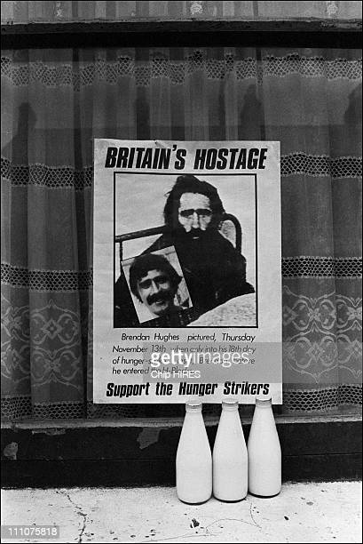 Supporting the hunger strikers portrait of Brendon Hughes pictured on November 13 1980 First Hunger Strike in October 1980 seven republican prisoners...