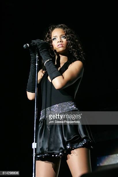 RIHANNA supporting the Pussycat Dolls performing on stage the Wembley Arena in London 1st December 2006