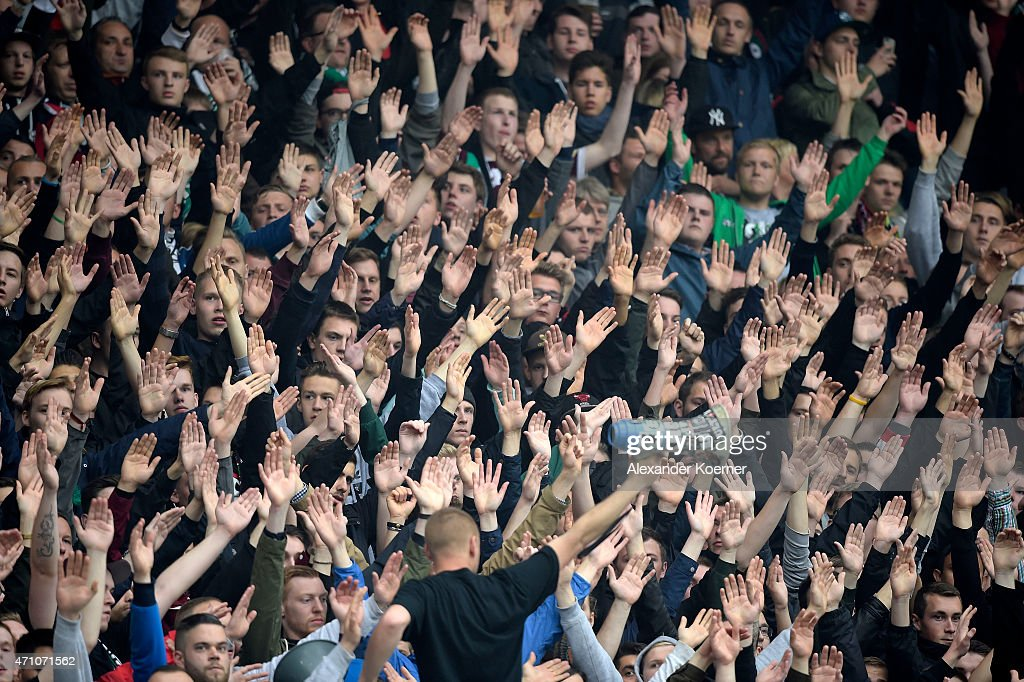 suppporters of hannover 96 including hooligans and ultras of the club news photo getty images. Black Bedroom Furniture Sets. Home Design Ideas