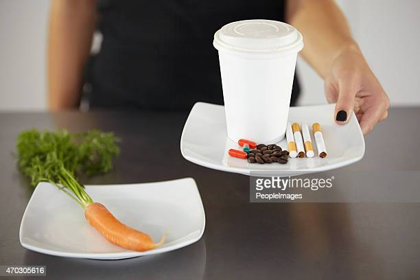 Suppressing her appetite with coffee, cigarettes and diet pills