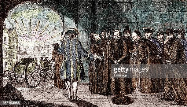 Suppression of the Jesuits from Spain in 1767 after their dismissal from France and Portugal Engraving 19th century Collection privee