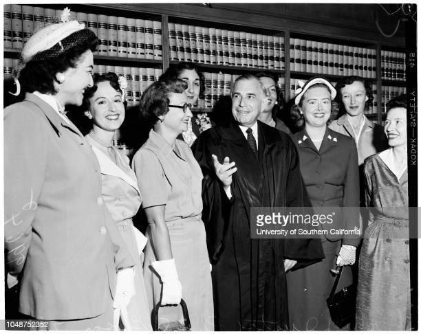 Supreme Court 22 July 1953 Robert S ForsytheJustice Douglas L EdmondsCharlotte FarnhamBarbara Jean JacobyMalvina GoodsteinMona CarlsonChief Justice...