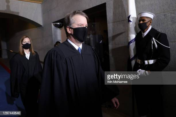 Supreme Court Associate Justice Brett Kavanaugh arrives at the inauguration of U.S. President-elect Joe Biden on the West Front of the U.S. Capitol...