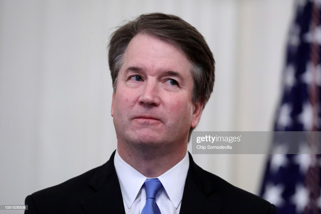 Brett Kavanaugh Sworn In As 114th Supreme Court Justice : News Photo