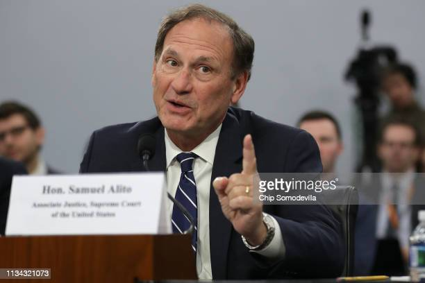 S Supreme Court Associate Justice Samuel Alito testifies about the court's budget during a hearing of the House Appropriations Committee's Financial...