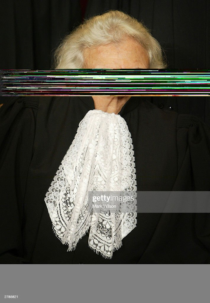 Supreme Court Justices Pose For Portraits : News Photo