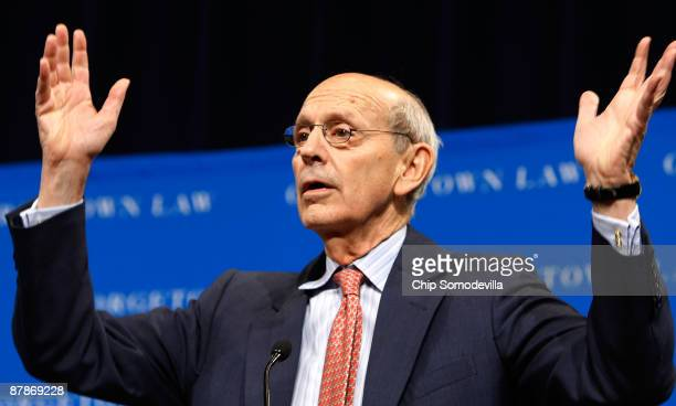 """Supreme Court Associate Justice Stephen Breyer addresses the Sandra Day O'Connor Project on The State of The Judiciary's forum """"Striking the Balance:..."""
