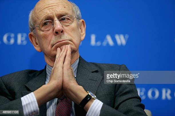 """Supreme Court Associate Justice Stephen Breyer participates in a panel on """"Lessons from the Past for the Future of Human Rights: A Conversation"""" at..."""
