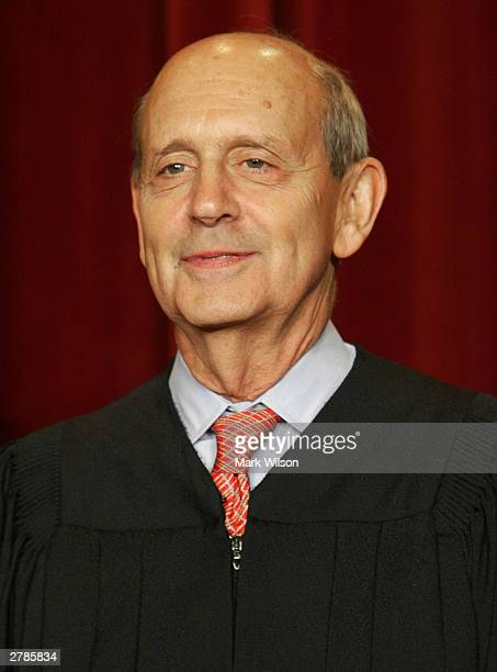 Supreme Court Associate Justice Stephen G. Breyer poses for a picture at the US Supreme Court December 5, 2003 in Washington, DC.