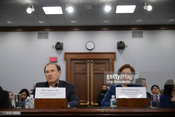 S Supreme Court associate justices Samuel Alito and Elana Kagan testify about the court's budget during a hearing of the House Appropriations...