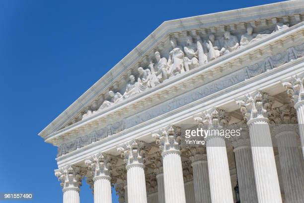 u.s. supreme court building in washington dc - geometrical architecture stock photos and pictures