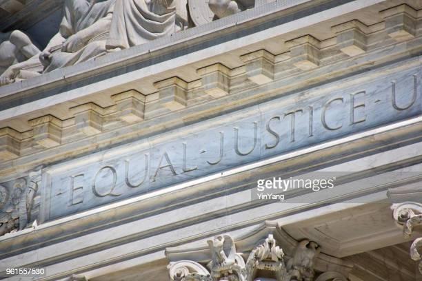 ワシントン dc の米国最高裁判所ビル - 最高裁判事 ストックフォトと画像
