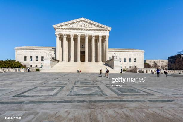 supreme court building in washington dc, usa - capital architectural feature stock pictures, royalty-free photos & images