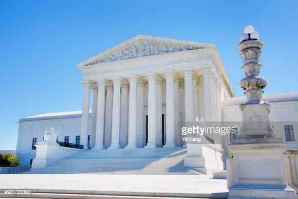 u.s. supreme court building in washington dc usa - us supreme court building stock pictures, royalty-free photos & images