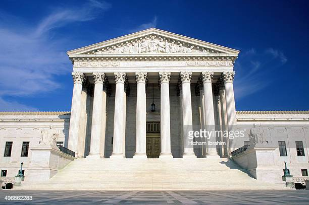 us supreme court building - geometrical architecture stock photos and pictures