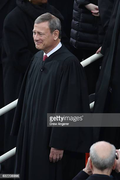 Supreme Court Chief Justice John Roberts arrives on the West Front of the U.S. Capitol on January 20, 2017 in Washington, DC. In today's inauguration...