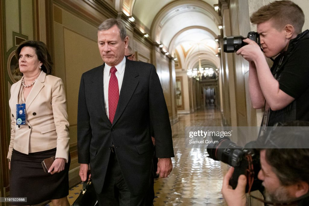 Senate Impeachment Trial Of President Trump Continues : News Photo