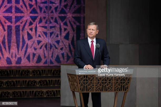 Supreme Court Chief Justice John Roberts speaks at the opening of the National Museum of African American History and Culture Washington DC September...