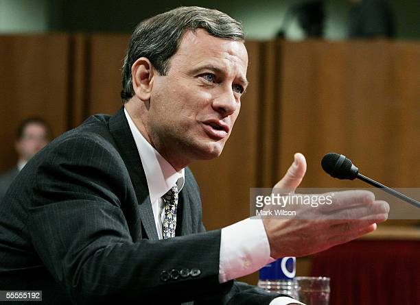S Supreme Court Chief Justice Nominee John Roberts answers questions on his fourth and final day of his testimony in his confirmaton hearings before...