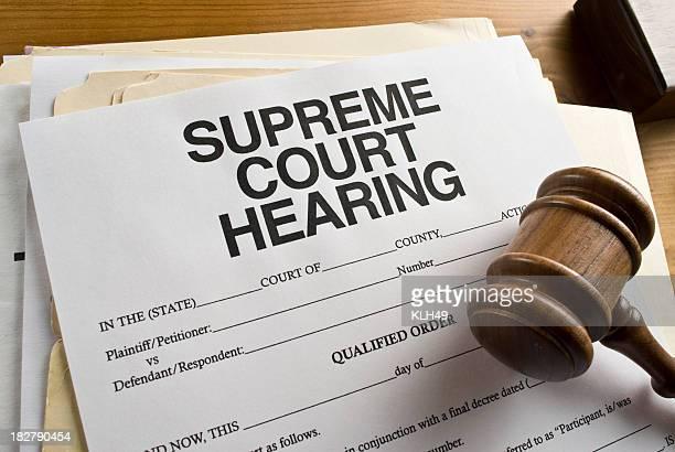 Supreme Court Hearing Paperwork