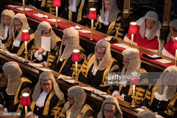 Supreme Court Judges sit in Westminster Abbey during the annual service to mark the start of the legal year, on October 1, 2018 in London, England....