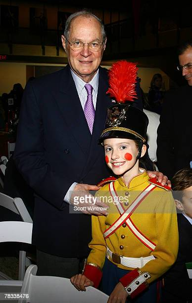 Supreme Court Justice Anthony Kennedy and granddaughter Kristina Clark attend the Nutcracker Benefit presented by the New York City Ballet and the...