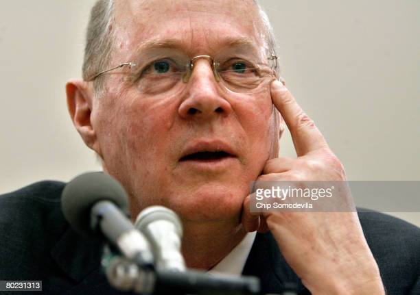 S Supreme Court Justice Anthony Kennedy testifies before the House Financial Services and General Government Subcommittee on Capitol Hill March 8...