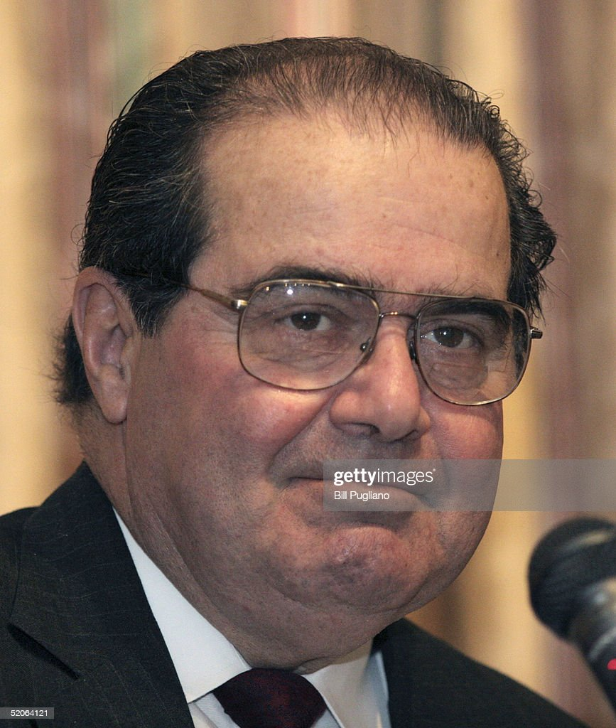 U.S. Supreme Court Justice Antonin Scalia speaks at the fifth annual Ava Maria School of Law lecture January 25, 2005 on the University of Michigan campus in Ann Arbor, Michigan. Scalia talked about religion and U.S. Constitution.