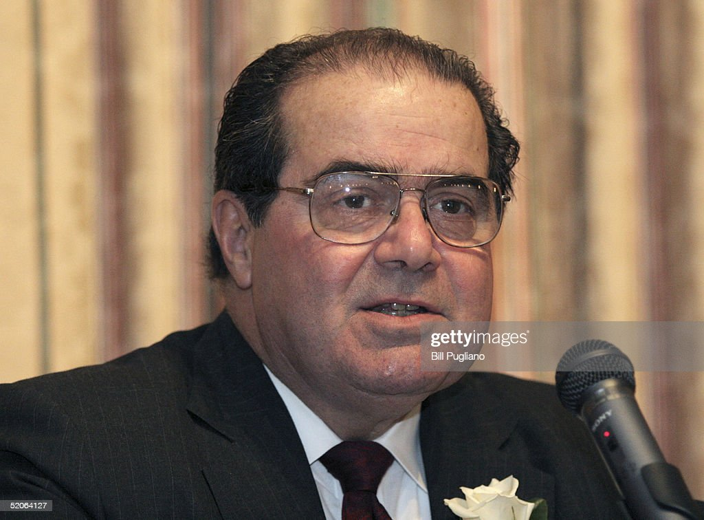 U.S. Supreme Court Justice Antonin Scalia speaks at the fifth annual Ava Maria School of Law lecture January 25, 2005 on the University of Michigan campus in Ann Arbor, Michigan. Scalia talked about religion and the U.S. Constitution.