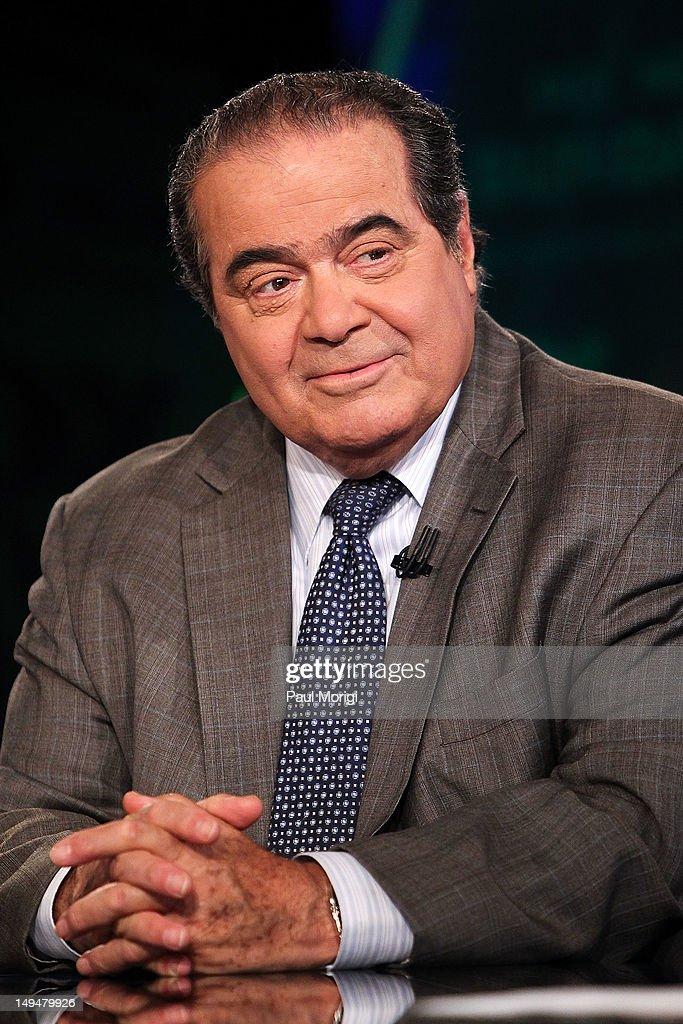 "Chris Wallace Interviews U.S. Supreme Court Justice Antonin Scalia On ""FOX News Sunday"" : News Photo"