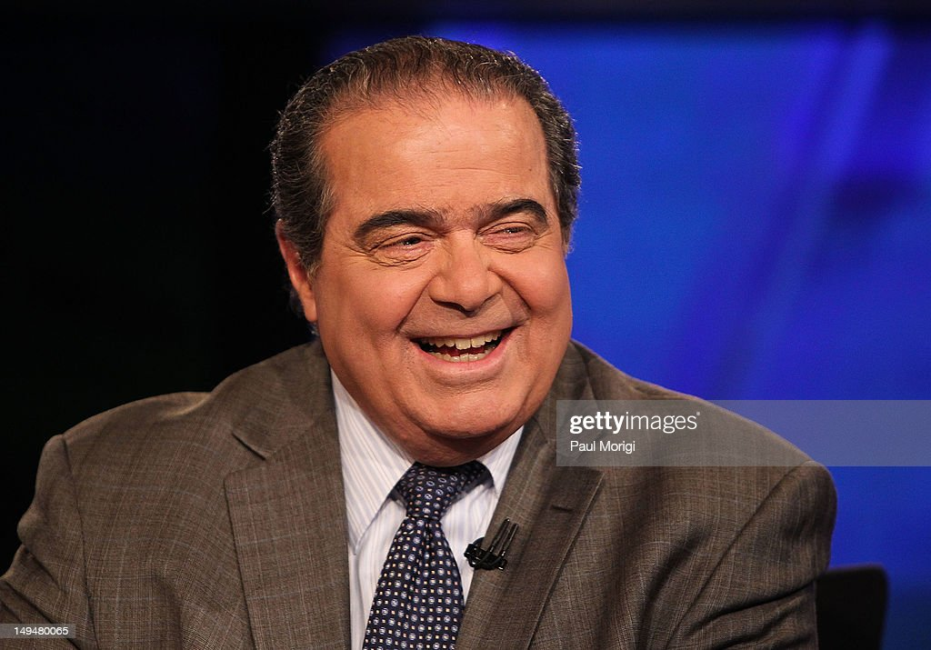 Chris Wallace Interviews U.S. Supreme Court Justice Antonin Scalia On 'FOX News Sunday' : News Photo