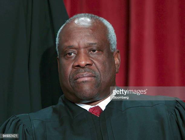Supreme Court Justice Clarence Thomas poses during the court's official photo session in Washington, D.C., U.S., on Tuesday, Sept. 29, 2009. Thomas...
