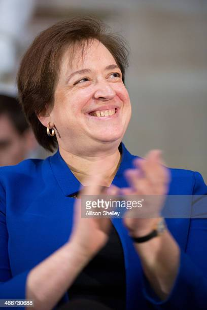 S Supreme Court Justice Elena Kagan participates in an annual Women's History Month reception hosted by Pelosi in the US capitol building on Capitol...