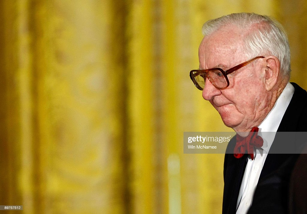 Supreme Court Justice John Paul Stevens arrives for a reception honoring Supreme Court Justice Sonia Sotomayor at the White House August 12, 2009 in Washington, DC. Sotomayor was sworn in as the first Hispanic Supreme Court Justice August 8, 2009.