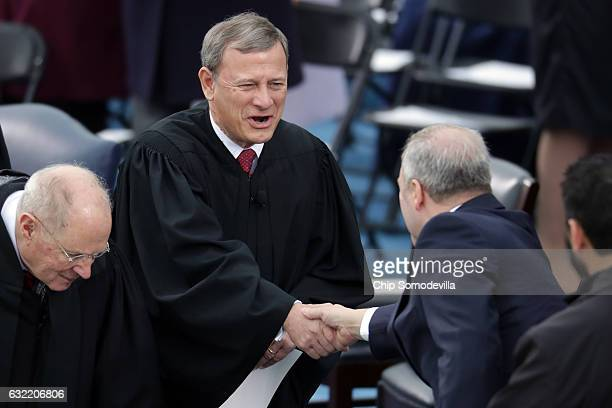 Supreme Court Justice John Roberts arrives on the West Front of the U.S. Capitol on January 20, 2017 in Washington, DC. In today's inauguration...
