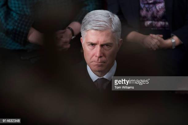 Supreme Court Justice Neil Gorsuch is seen in the House chamber during President Donald Trump's State of the Union address to a joint session of...