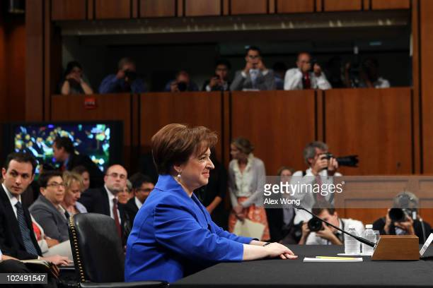 Supreme Court Justice nominee Elena Kagan listens to opening statements by members of the Senate Judiciary Committee on the first day of her...