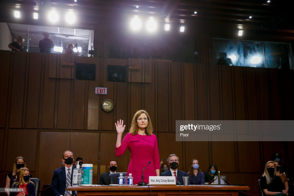 Senate Holds Confirmation Hearing For Amy Coney Barrett To Be Supreme Court Justice : ニュース写真