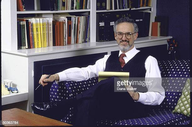 Supreme Court Justice nominee, Judge Douglas Ginsburg, at home.