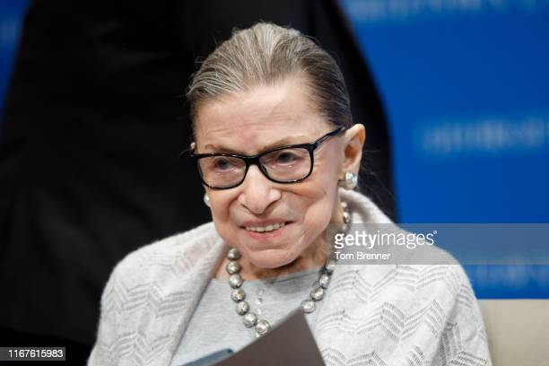 Supreme Court Justice Ruth Bader Ginsburg delivers remarks at the Georgetown Law Center on September 12 in Washington DC Justice Ginsburg spoke to...