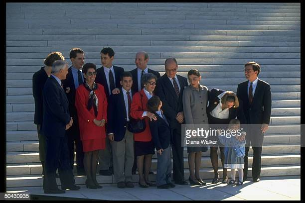 Supreme Court Justice Ruth Bader Ginsburg & extended family incl. Husband Martin & son James outside Supreme Court.