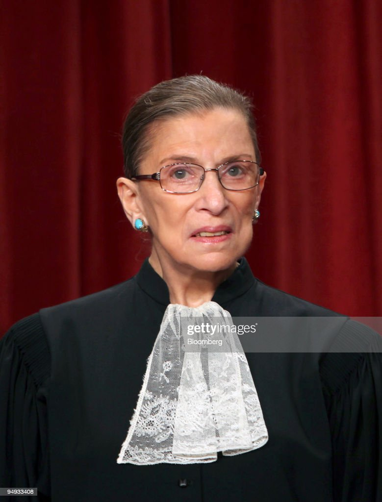 U.S. Supreme Court Justice Ruth Bader Ginsburg poses during : News Photo