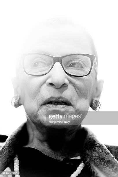 Supreme Court Justice Ruth Bader Ginsburg poses for a portrait on July 24 2014 in her Washington DC office