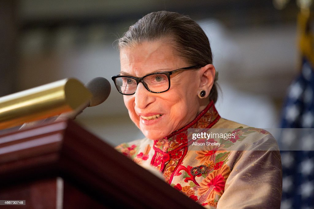U.S. Supreme Court Women Justices Are Honored On Capitol Hill For Women's History Month : News Photo