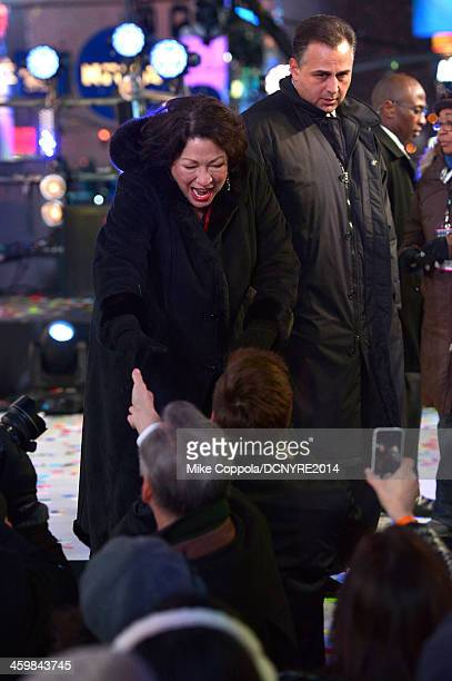 Supreme Court Justice Sonia Sotomayor attends Dick Clark's New Year's Rockin' Eve with Ryan Seacrest 2014 on December 31 2013 in New York New York