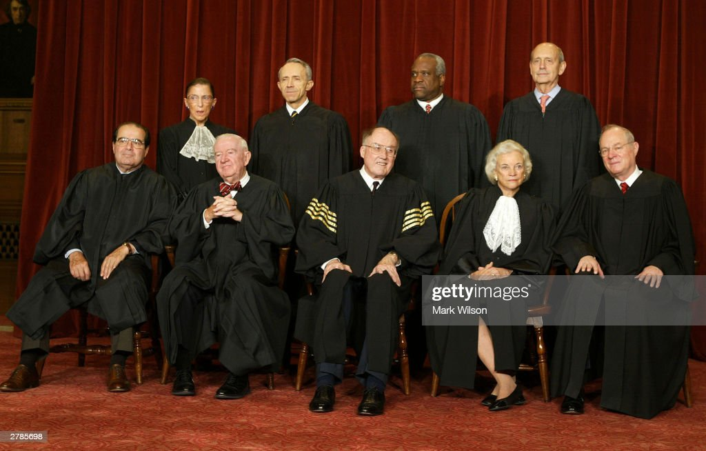 Supreme Court Justices Pose For Portraits : ニュース写真