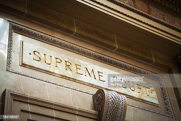 USA Supreme Court Marble Entrance Sign for Legal System Justice