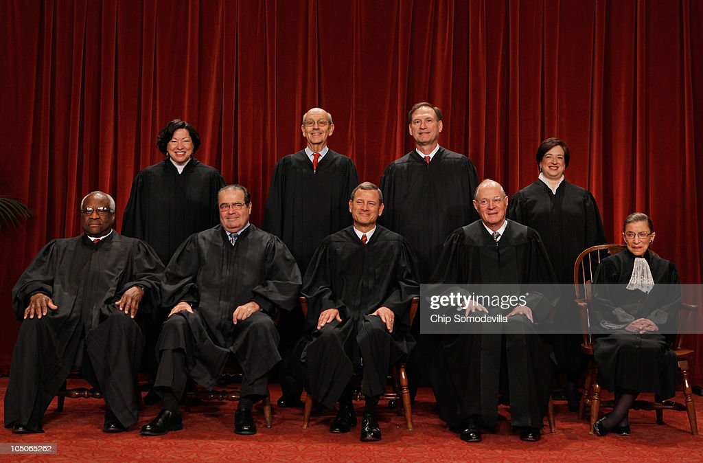 New U.S. Supreme Court Poses For 'Class Photo' : News Photo